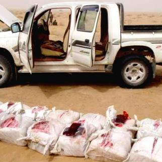 Afghan National Security Forces, assisted by international forces, discovered 1,600 pounds of hashish during patrol in Helmand earlier this year. (Photo: ISAF)
