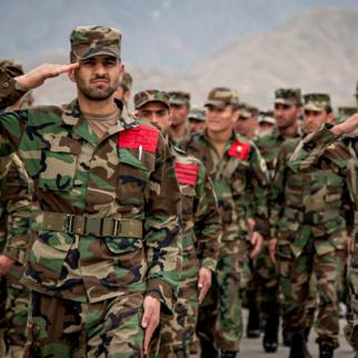 Future army officers at Afghanistan's military academy in Kabul. (Photo: ISAF)