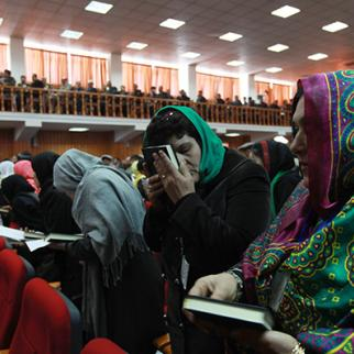 Female lawmakers in the Afghan parliament. (Photo: Eric Kanalstein/Getty Images)