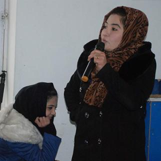 A participant at the IWPR debate in Baghlan province. (Photo: IWPR)