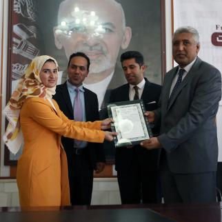 Naqiba Barakzai is honoured on World Press Freedom Day.