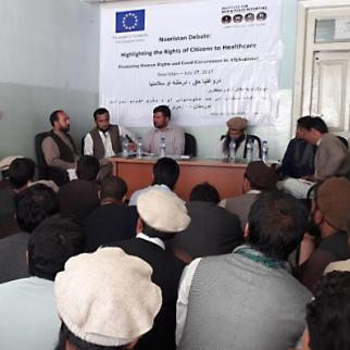 Residents of Nuristan province demanded improved health services in a debate organised by IWPR in Paron on July 29. (Photo: IWPR)