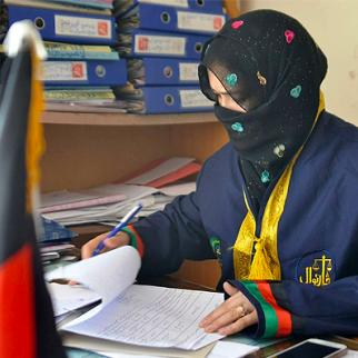 Zainab Fayez, the only woman serving as a prosecutor in Afghanistan's southern province of Kandahar. (Photo courtesy of Z. Fayez)