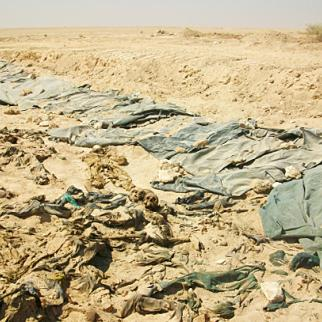 Newly exhumed remains of what are believed to be Anfal campaign victims. (Photo: Mass Graves Victims Human Center)