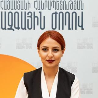 Ani Samsonyan from the opposition party Bright Armenia. (Photo courtesy of A. Samsonyan)