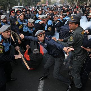A protest in Yerevan in November 2013, after which politician Shant Harutyunyan was arrested. (Photo: Photolure)