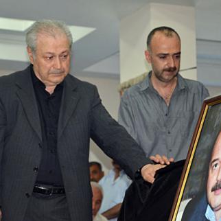 Ayaz Mutallibov at his son's wake. (Photo: Idrak Abbasov)