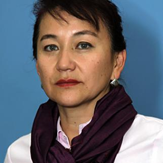 Kyrgyz politician Aynuru Altybaeva. (Photo courtesy of A. Altybaeva)