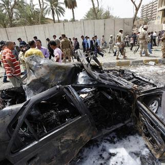 Al-Qaeda has carried out hundreds of devastating assaults in Iraq including this April 2010 car bomb attack outside the Iranian embassy in Baghdad. Iraq stepped up security after Osama bin Laden was killed earlier this week. (Photo: Metrography)