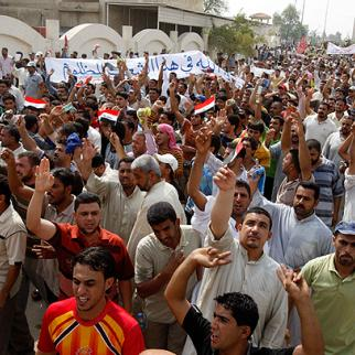 At least two protesters were killed in clashes with government security forces June 23 in the southern city of Basra, as angry Iraqis took to the streets to demand more access to electricity. (Photo: Eye Media)