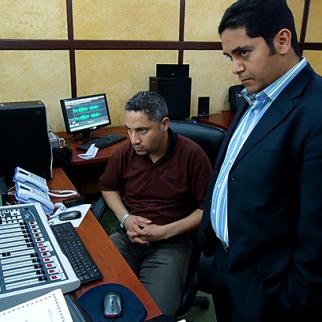 Radio show which IWPR helped produce at Benghazi FM. (Photo: IWPR)