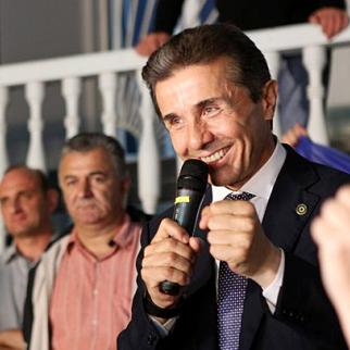 Bidzina Ivanishvili after the October 1 parliamentary election. His Georgian Dream bloc was well ahead as the count continued. (Photo: B. Ivanishvili Facebook page)