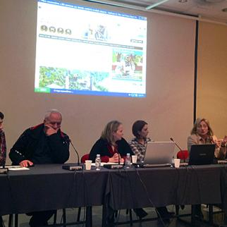 Panelists at an IWPR round table on the Bosnian census, held on December 20 in Sarajevo. (Photo: IWPR)