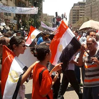 Egyptians were eurphoric at the height of the revolution - but they are not very happy with the way things have worked out. (Photo: Muhammad Moneib/Flickr)