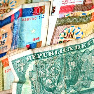 Cuban banknotes - here real rather than forged. (Photo: IWPR)