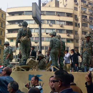 By the time President Mubarak was forced from office, the Egyptian army had won a lot of public support. But its commanders will have to realise that the country is a changed place where emergency laws should no longer apply. (Photo: Ranveig Thattai)