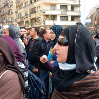 Women have played a signifcant role in the Egyptian revolution but are now slowly being sidelined. (Photo: Daniella Peled)