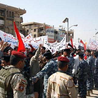 "Fallujah residents protest during Iraq's ""Day of Rage"" on February 25 2011. (Photo: Uthman al-Mukhtar)"