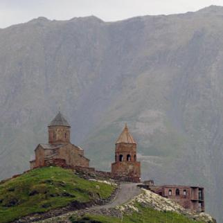 The Gergeti monastery typifies the medieval architecture seen across Georgia. (Photo: IWPR)