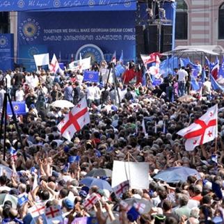 Georgian Dream rally in Tbilisi, May 2012. (Photo: Mirian Koridze)