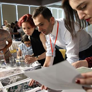 Participants enthralled in a workshop. (Photo: Davit Mdzinarishvili)