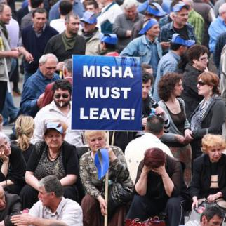 Georgian opposition protesters in Tbilisi (Photo: Mirian Koridze)