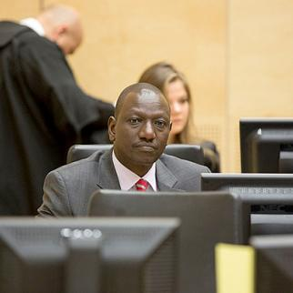 Kenyan deputy president William Ruto on the first day of trial at the ICC. (Photo: ICC-CPI)