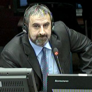 Milorad Pelemis, defence witness in the Mladic trial at the ICTY. (Photo: ICTY)