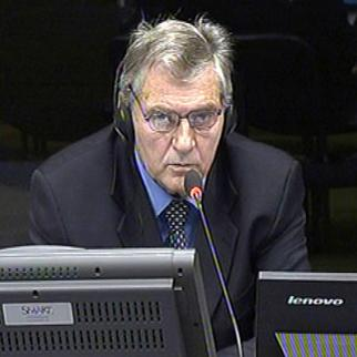 Radomir Radinkovic, defence witness in the Mladic trial at the ICTY. (Photo: ICTY)