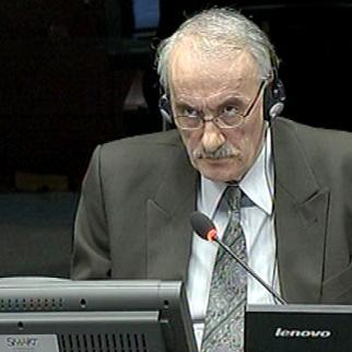 Vidoje Blagojevic, defence witness in the Mladic trial at the ICTY. (Photo: ICTY)