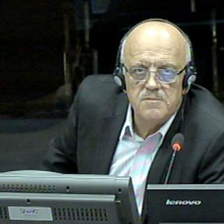 Milorad Sehovac, defence witness in the Mladic trial. (Photo: ICTY)