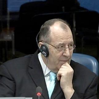 Defence witness Mico Stanisic in the ICTY courtroom. (Photo: ICTY)