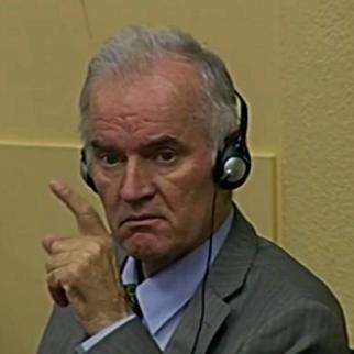 Ratko Mladic in court this week as his defence case got under way. (Source: ICTY)