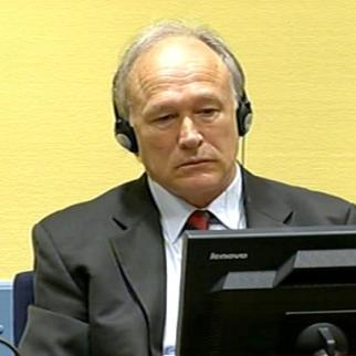 Vlastimir Djordjevic in the ICTY courtroom. (Photo: IWPR)