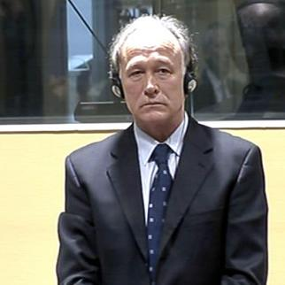 Serbian former police chief Vlastimir Djordjevic in the ICTY courtroom. (Photo: ICTY)