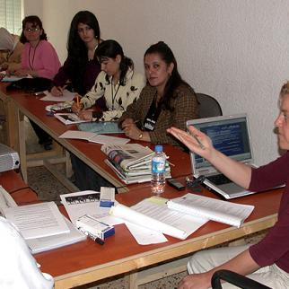IWPR Training course held in Sulaimaniyah in 2008. (Photo: IWPR)