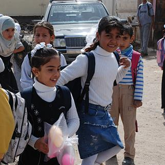 Iraqi school pupils get out after the last exams of the year. June 2012. (Photo: Abu Iraq)