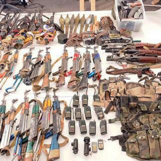 A selection of insurgent weapons seized by Australian troops in Kandahar, June 2010. (Photo: ISAF Public Affairs)