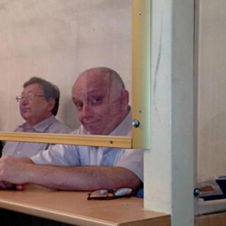 Vladimir Kozlov (right), in court with Serik Sapargali and Akjanat Aminov. (Photo: Facebook group in support of Kozlov and others)