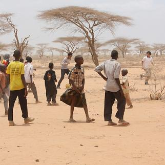 Children play in Dadaab camp which is home to more than 400,000 refugees. (Photo: Riyaad Minty/Flickr)