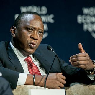 Kenya's president, Uhuru Kenyatta, is charged with crimes against humanity in The Hague. (Photo: World Economic Forum / Benedikt von Loebell)