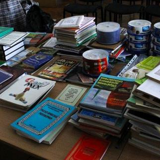 Extremist material confiscated by the ministry of internal affairs. (Photo: Kyrgyz Ministry of Internal Affairs)