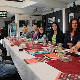 Participants of the round table - students of the Faculty of Philosophy in Eastern Sarajevo, departments of journalism and sociology. (Photo: Mladen Lakic)