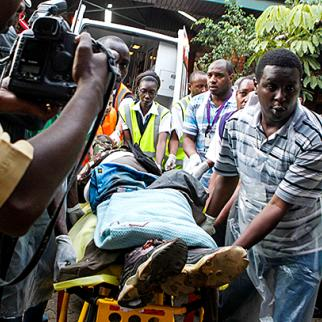 With 67 people confirmed killed over days of violence, 61 more are still missing, according to the Kenyan Red Cross. Dozens may be buried under rubble after an explosion at the Westgate mall on September 23. (Photo: Capital FM)