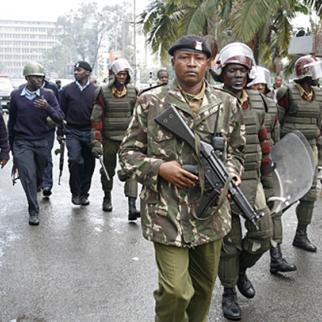 Police in Nairobi in early 2008, during the violence that rocked Kenya after a presidential election. (Photo: DEMOSH/Flickr)