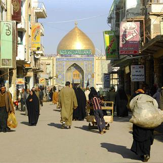 The city of Najaf, one of the holiest in Shia Islam and home to Iraq's powerful Shia religious leadership, which has been shaken by a sex scandal. (Photo: Jamal Penjweny)