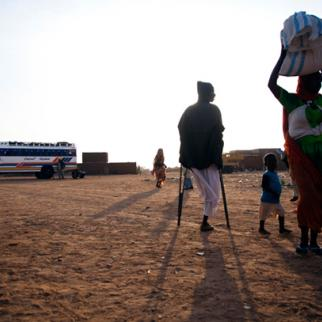 Displaced people at a camp in Nyala. (Photo: United Nations)