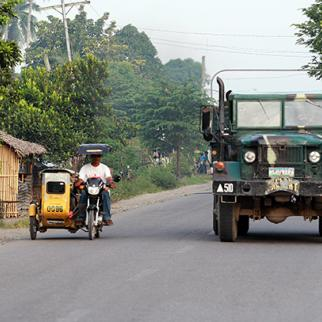 A military truck on patrol in Mindanao province after clashes in July 2014. (Photo: Jeoffrey Maitem/Getty Images)