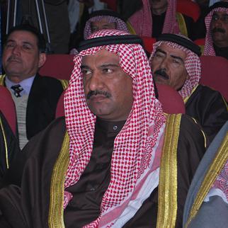 Sheikh Raad al-Sabah, leader of the Sahwa militia in Ramadi, attends a tribal council meeting. (Photo: Uthman al-Mukhtar)