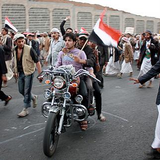 Anti-regime protesters in Sana'a. (Photo: Kate B. Dixon)